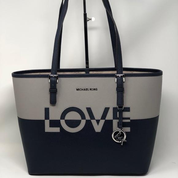 deee3106cc952c Michael Kors Bags | Jet Set Travel Love Caryall Tote Bag | Poshmark